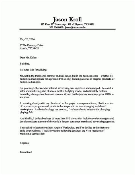 cover letter standard format good resume format