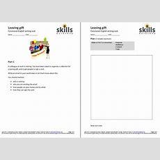 Leaving Gift Functional English Writing Tasks  Skills Workshop