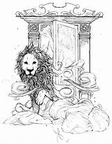 Narnia Wardrobe Witch Lion Sketch Coloring Chronicles Tattoo Drawing Illustrations Tolkien Paravel Cair Aslan Lucy Rnia Colouring Saga Lions Nicas sketch template