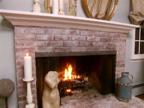shabby chic brick fireplace shabby chic fireplace makeover video hgtv
