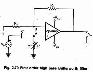 first order high pass butterworth filter eeeguide With butterworth filter