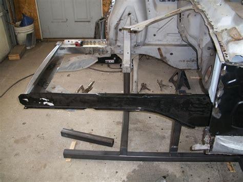 classic car restoration    mustang left front frame