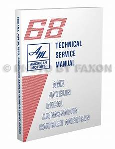 1968 Amc Repair Shop Manual Reprint