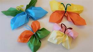 Schmetterling Basteln Papier : bunte schmetterlinge aus papier basteln der familienblog ~ Lizthompson.info Haus und Dekorationen