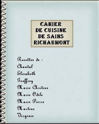 cahier de cuisine les cahiers de cuisine de la capelle centre socio