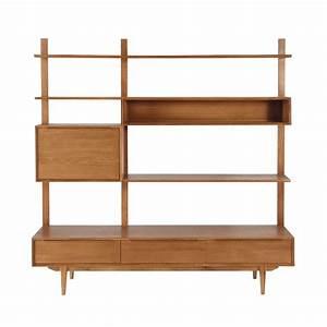 Etagere En Chene : tag re meuble tv vintage en ch ne massif l 180 cm ~ Teatrodelosmanantiales.com Idées de Décoration