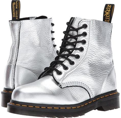 Martens Pascal Metallic Boots Wearing Combat