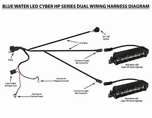Bluewaterled Cyber Systems Led Dual Wiring Harness