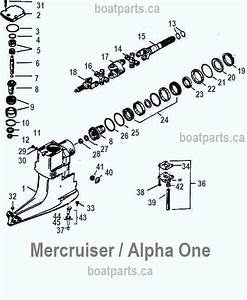 Mercruiser Upper Gearcase Parts Diagram