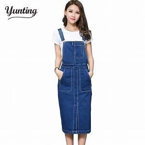 vintage 2018 slim sweet jeans dress women washed short With robe salopette en jean