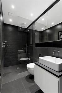 La beaute de la salle de bain noire en 44 images for Salle de bain design avec carrelage salle de bain castorama