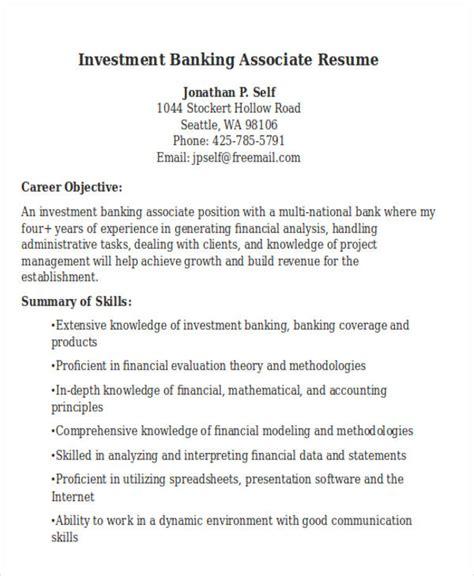 banking associate resume 22 banking resume templates free premium templates