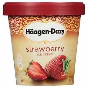 Haagen-Dazs® Strawberry Ice Cream 14 oz : Target