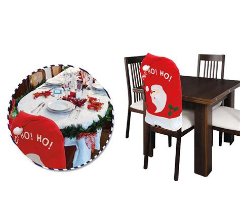 housse de chaise noel housse décorative de noël pour chaise