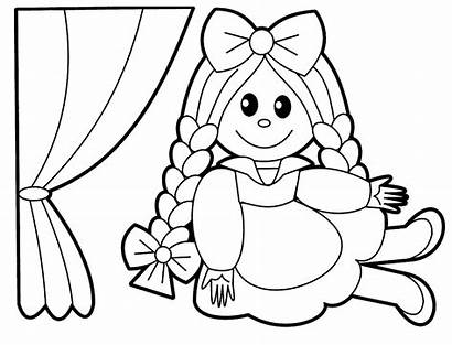 Coloring Doll Pages Toys Toy