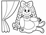 Coloring Pages Baby Doll Cartoon Toys Babies Popular Printables sketch template