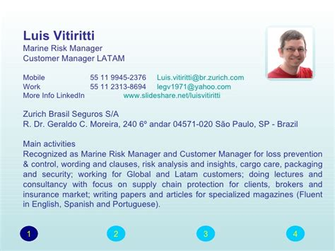 Powerpoint Presentation Resume Slideshow by Ppt Resume Cv Luis Vitiritti 2012