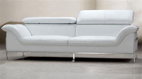 canape relax electrique pas cher canape design 2 places cuir blanc