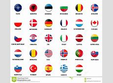 National Flags From NATO Members Stock Illustration
