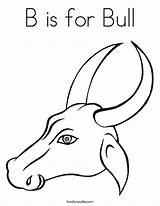 Bull Coloring Horns Pages Drawing Head Getdrawings Twistynoodle Animal sketch template
