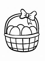 Basket Easter Coloring Pages Printable sketch template