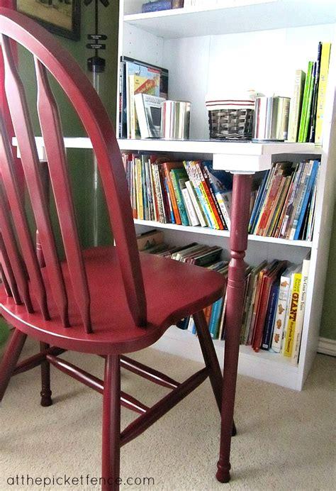diy bookcase turned desk   picket fence