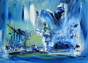 tableau abstrait moderne bleu tableau pinterest With couleur gris bleu peinture 4 tableau peinture contemporaine paysage minimaliste