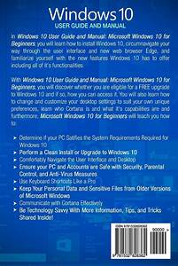 Windows 10  2016 User Guide And Manual  Microsoft Windows
