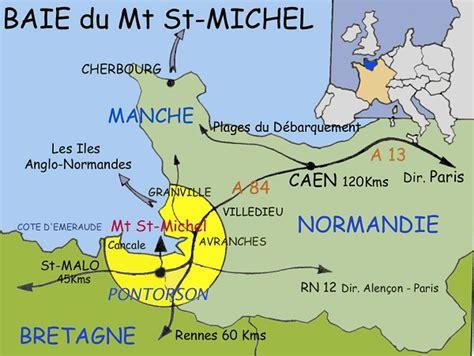 info carte region du mont michel voir