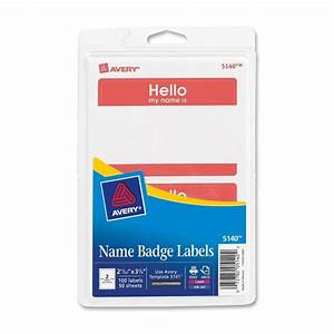 avery name badge labels 100 pack quickshipcom With avery name tag labels