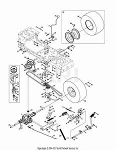 Mtd 13ao785t055  2011  Parts Diagram For Transmission