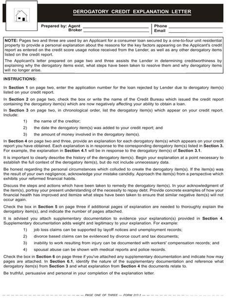 letter  explanation  derogatory items  credit report
