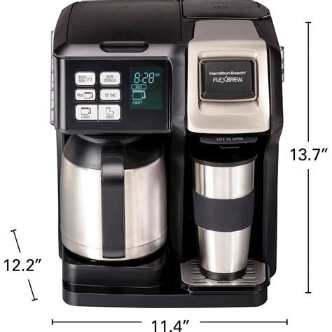 With your own coffee grounds. Hamilton Beach FlexBrew 10-Cup Coffee Maker and Single Serve Brewer Black 49966 - Best Buy