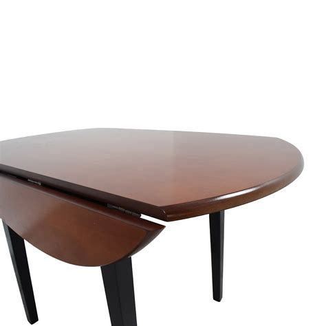 bobs furniture bobs furniture brown wood  kitchen table tables