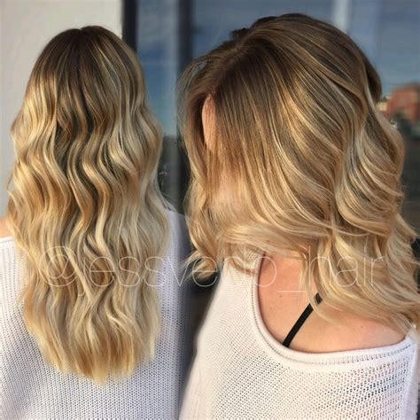 Warm Golden by Warm Golden Balayage Ombre With Shadow Root
