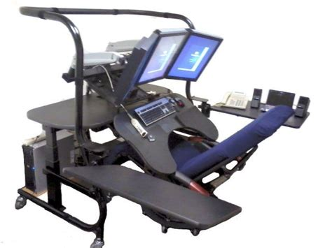 Chair Mounted Keyboard Tray by Radiology Pacs Workstations