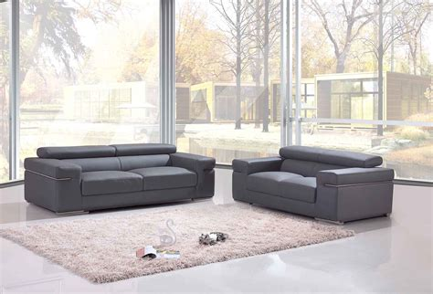 canape 2 places cuir deco in ensemble canape 3 2 places en cuir gris