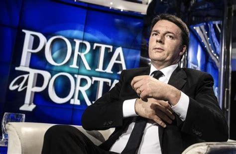 Matteo Renzi Porta A Porta by Renzi A Porta A Porta Le Promesse Elettorali Di