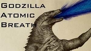 Godzilla 2014 Amazing Atomic Breath Drawing Speed Art ...