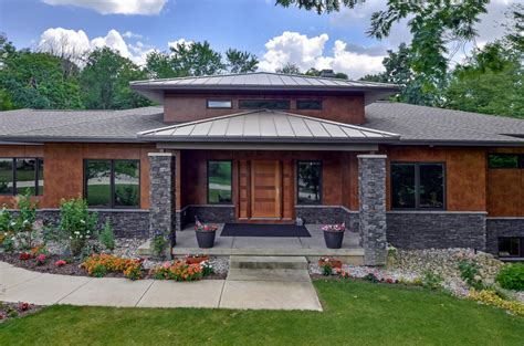 modern prairie modern prairie style house plans 1045 skyevale ada mi 49301 planomatic planomatic photoplans