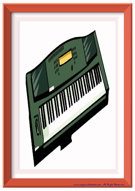 musical instruments esl printable english flash cards