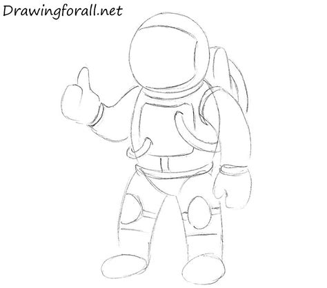 draw  astronaut  kids drawingforallnet