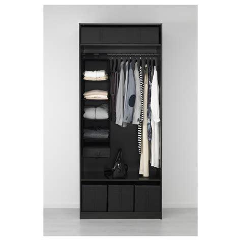 Black Brown Wardrobe Closet by Ikea Pax Wardrobe Black Brown Ballstad White Closet