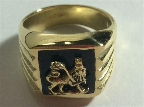 rastafari brass ring of judah ring