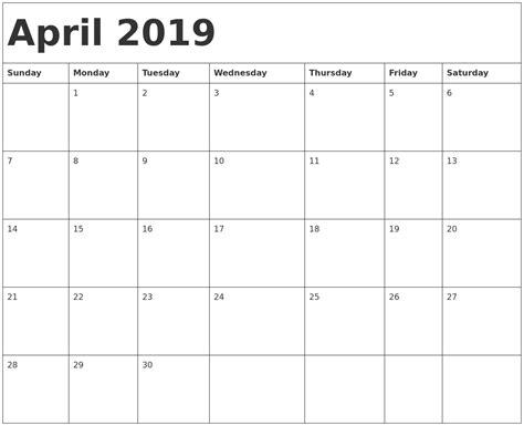 april printable calendar qualads