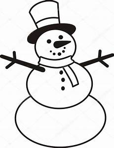 Snowman — Stock Vector © halimqd #43373665