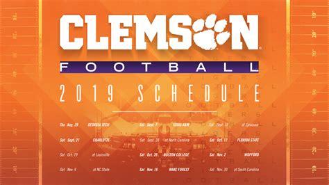 clemson football spring guide schedule clemson