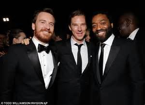 Benedict Cumberbatch and Michael Fassbender celebrate ...