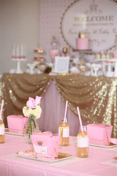 pink gold royal princess party planning ideas supplies