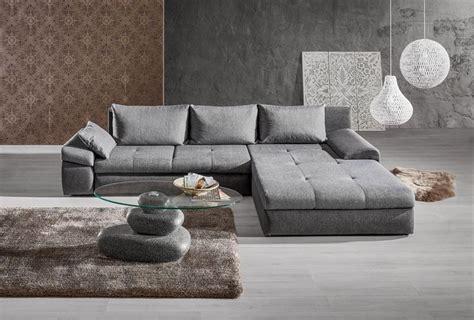 wohnlandschaft  textil anthrazit grau interior